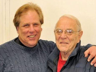 Bob Cournoyer, Owner of Waterbeds Minnesota, with his Dad (Nov. 2014)